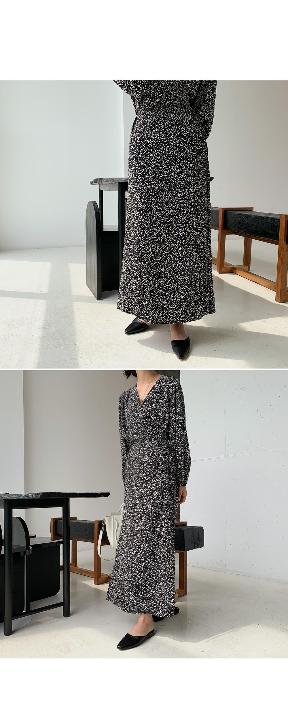 Ditsy Flower Wrap Dress-holiholic.com